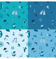 Four background in different colors vector