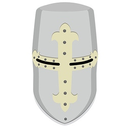 Templar knight helmet vector image