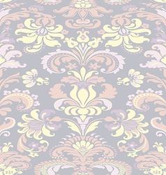 Colorful damask seamless floral pattern background vector