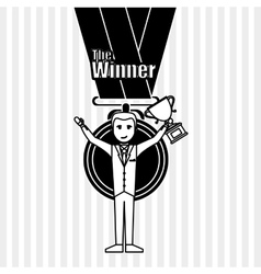 Winner icon design  editable vector