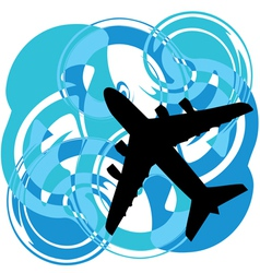 Abstract Airplane vector image vector image