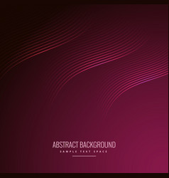 Abstract background with wave lines vector