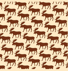 background pattern with moose vector image