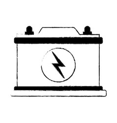 Big battery icon image vector