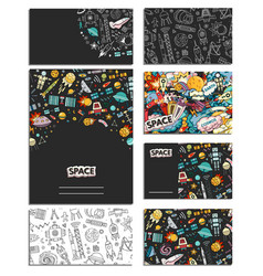 Cards template of cosmos vector
