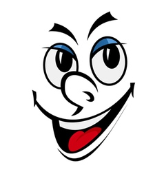 cartoon funny face vector image vector image