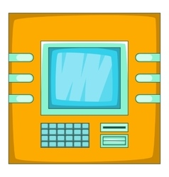 Cash machine icon cartoon style vector