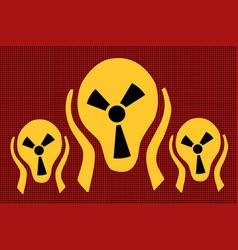 caution radiation scream terror fear vector image vector image