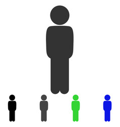 Child standing pose flat icon vector