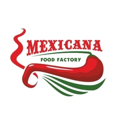 Chili pepper for mexican restaurant food icon vector