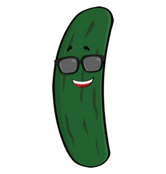 cool cucumber vector image vector image