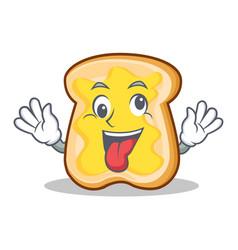 crazy bread character cartoon style vector image vector image