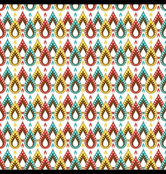 Creative colorful festive diya pattern background vector