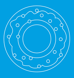 Donut icon outline style vector