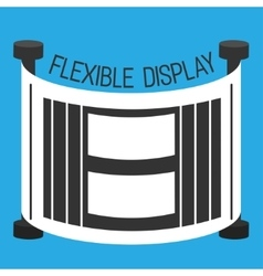 Flexible display smartphone flat style vector