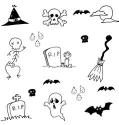 Hand draw doodle halloween stock vector