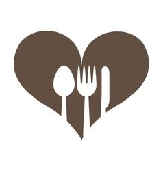 Leafs healthy heart food menu icon vector