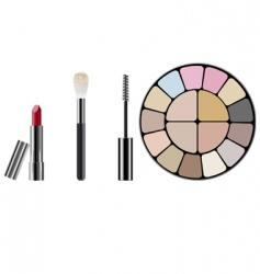 makeup kit vector image vector image