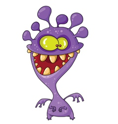 monster funny vector image vector image