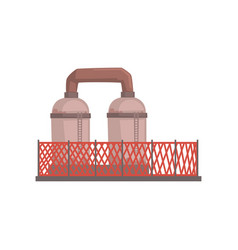 Petrochemical plant industrial manufactury vector