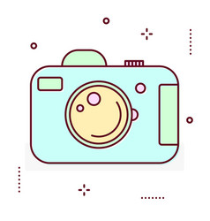 Photo digital camera line icon vector