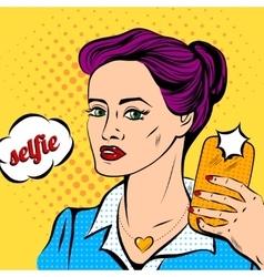 pop art girl vector image