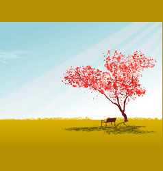 sakura tree wallpaper with sky vector image