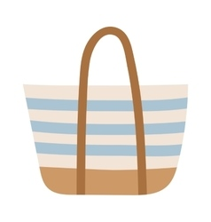 Summer bag isolated on white vector image
