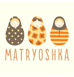 Three matryoshka dolls vector image vector image