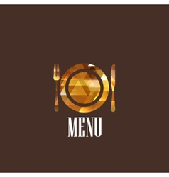 With a diamond menu sign vector