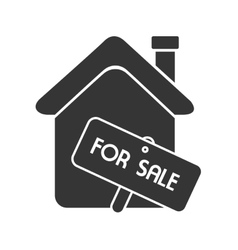 House for sale home real estate isolated vector