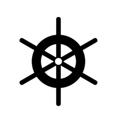 Wheel of ship icon simple style vector