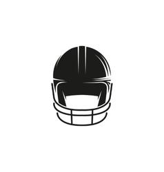 Isolated abstract black color baseball helmet logo vector