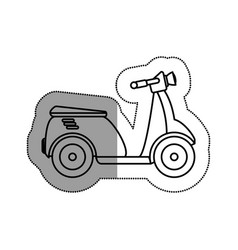 Scooter vehicle isolated icon vector