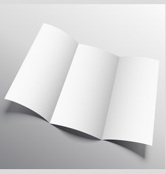 trifold brochure mockup in persperctive style vector image