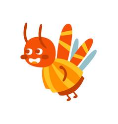 cute cartoon bumblebee colorful character vector image
