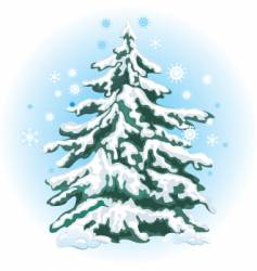 01 fir tree in snow vector image