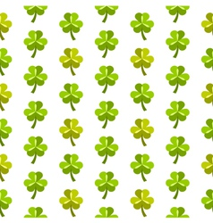 St patrick day seamless pattern with shamrocks vector