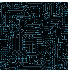 Seamless pattern computer circuit board vector