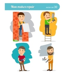Home repair man vector