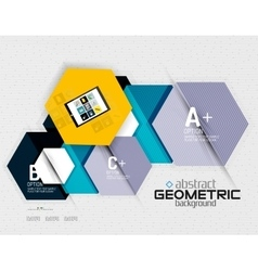 Abstract info banner with options geometric paper vector