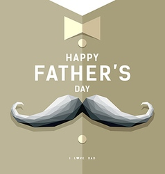 Happy fathers day mustache geometric design vector image