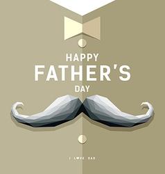 Happy fathers day mustache geometric design vector