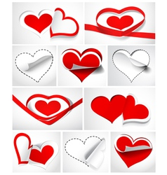 hearts vector image