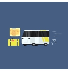 White touristic bus vector