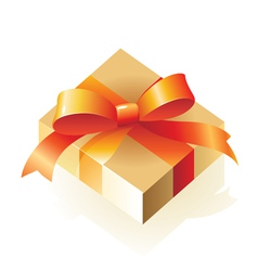 Gift with bow vector