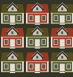 A lot of houses in the form of an ornament vector