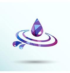 Abstract symbol of a drop water symbol vector image vector image