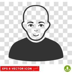 Bald man eps icon vector
