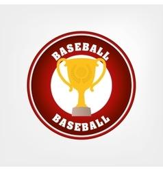 Baseball trophy cup vector
